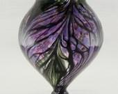 Hand Blown Art Glass Vase - Purple and Lavender