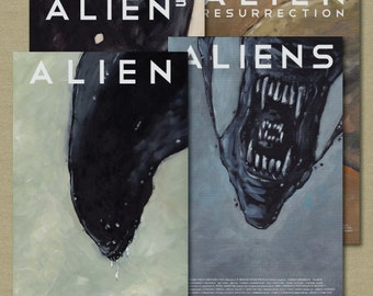 Alien Movie Poster Set of 4