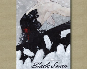 Black Swan Movie Poster - Dark Fantasy Art Print 11 x 17