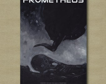 Prometheus Movie Poster 11 x 17 - Scifi Fan Art Print
