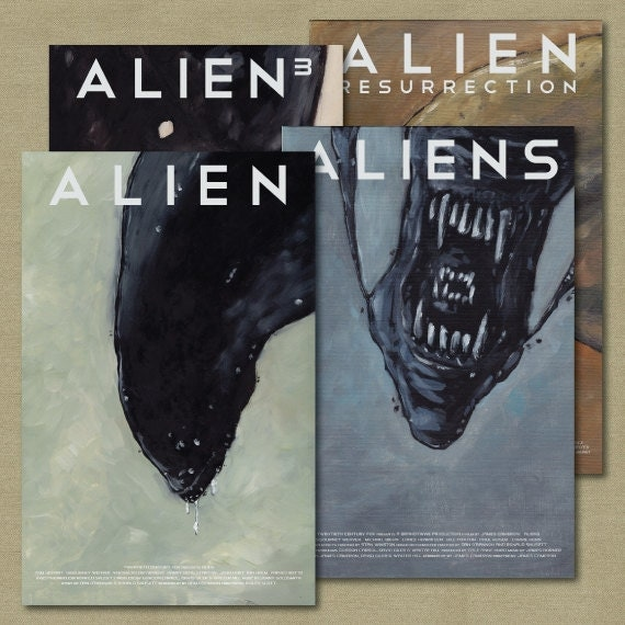 Alien Movie Poster Set of 4