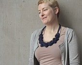 """Knotted necklace """"Lene"""" in dark blue, navy"""