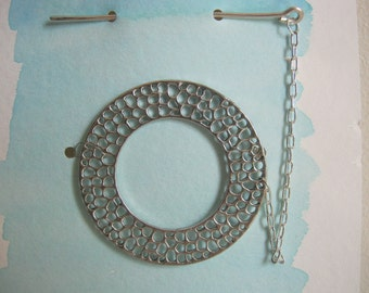 Silver Shawl Pin or Sweater Closure