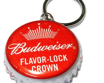 Budweiser Beer Bottle Cap Customizable ID Tag
