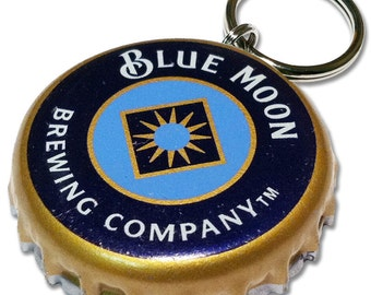 Beer Bottle Cap ID Tag - Blue Moon Brewing