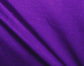 "58-60"" Deep Purple Shiny Tricot-12 Yards Wholesale by the Bolt"