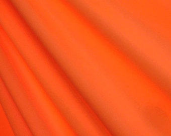 "58-60"" Neon Orange Matte Tricot-12 Yards Wholesale by the Bolt"