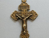 Pardon Crucifix Cross Pendant - Bronze Catholic Crucifix