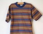 Boy's Striped T-Shirt, Size Medium
