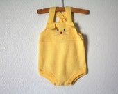 RESERVE for BABYGRACES Bunny Rabbit Romper, Yellow Size 9 Months