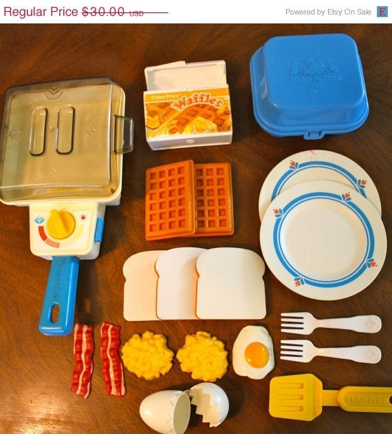Items similar to on sale fisher price fun with food super for Funny kitchen set