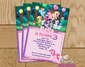 My Little Pony Birthday Invite My Little Pony: Friendship is Magic Printable Personalized Birthday Invitations- DIGITAL FILE