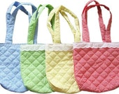 Small Gingham Quilted Diaper Bag includes monogramming