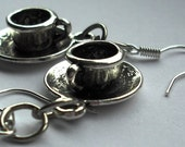 Tea Cup Kitsch Charm Earrings