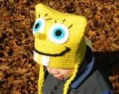 Squarebob Spongepants Crochet Hat Pattern