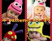 4 PDF CrochetPatterns for 9