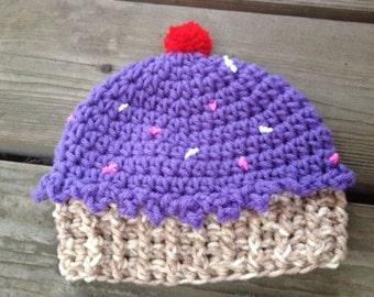 Cupcake Hat Crochet Pattern