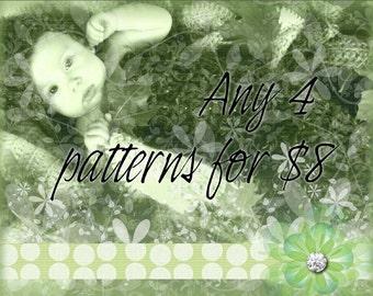 4 PDF CrochetPatterns for 8