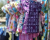 Peasant Dress - Baby or Girls- Purple Chairs
