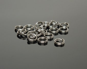 6mm Stainless Steel Split Rings (100)