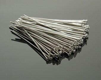 """22 Gauge 1.75"""" Stainless Steel Headpins (100)"""