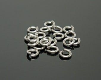 BULK 5.5mm OD 18G Stainless Steel Jump Rings (500)