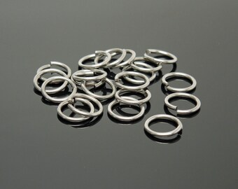 8.5mm OD 19G Stainless Steel Jump Rings (20)