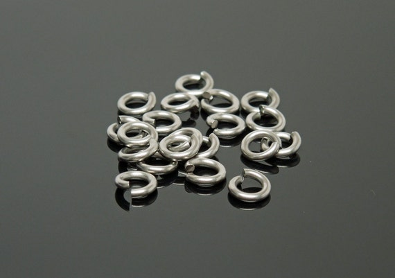 5.5mm OD 18G Stainless Steel Jump Rings (100)
