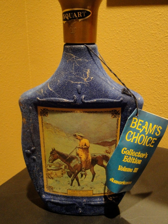 Jim Beam Decanter On The Trail Americana By