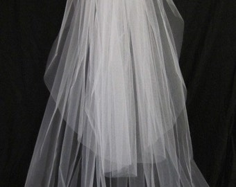 Wedding veil bridal veil, chapel veil, cathedral veil, floor length veil, waltz veil, simple veil, classic veil, plain veil, sheer veil