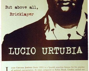 2 color Lucio Urtubia Offset Poster