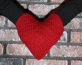Smitten - Couples Hand Holding Mitten, Heart Shaped Muff