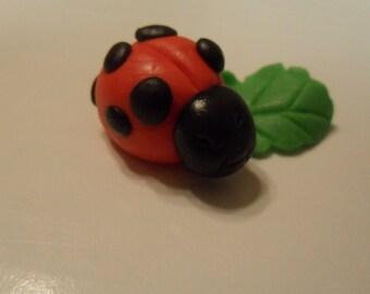 Fondant Ladybug Cupcake Toppers