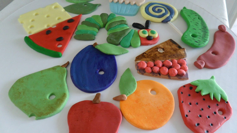 Etsy Cake Decor : Fondant Hungry Caterpillar Cake Decorations by KraftyKakes ...