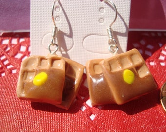 Waffles with Syrup Earrings