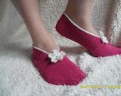 Clearance. Raspberry Slippers.