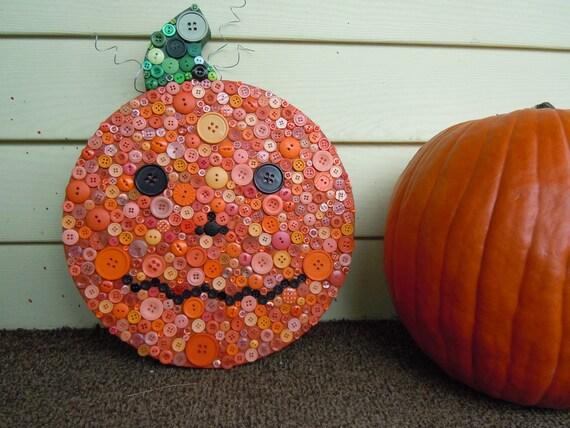 Reserved: Button Jack-O-Lantern decoration