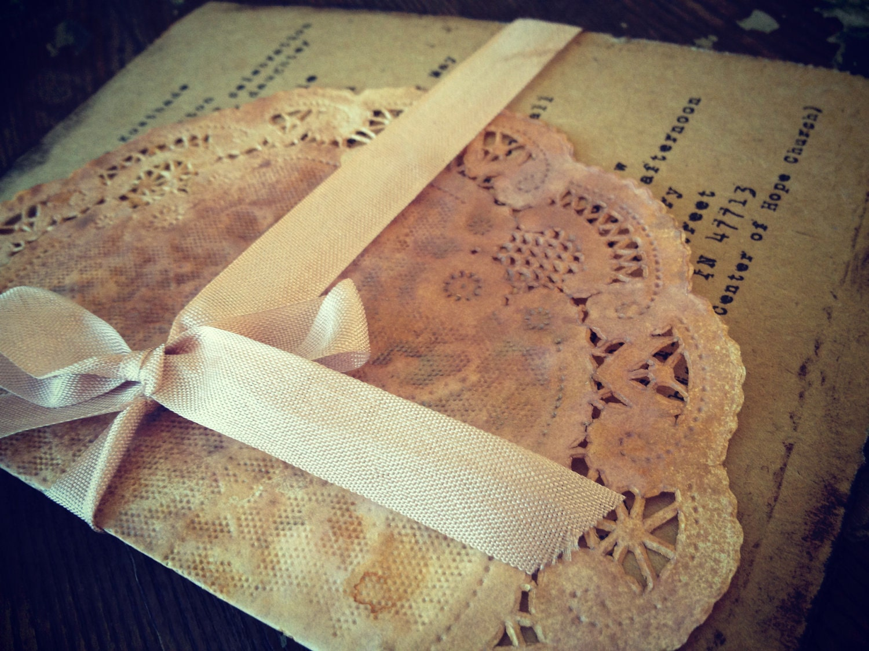 Vintage Handmade Wedding Invitations: Items Similar To Bridal Shower Invitation Handmade Hand