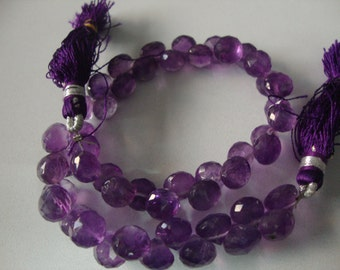 Amethyst Onions shape beads faceted AAA Quality 132 CARATS  length 8 Inches Size 7mm Calibrated holiday shopping