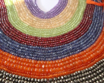 Beads wholesale beads lot semi precious gemstone beads AAA quality wholesale lot 55 FULL STRANDS 11 stones Size 2-4 mm Length 13 Inches