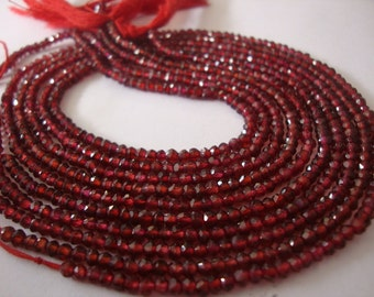 Garnet beads mozambique garnet beads wholesale lot size 2-4 mm 5 strands Length 13 Inches each factory prices