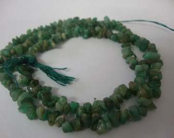 Emerald Beads rough beads Size 2-4mm Length 13 Inches Natural Emerald Discounted prices