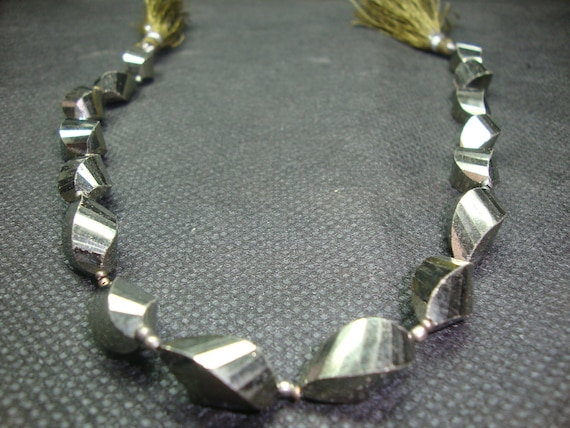 Pyrite Twisted  Briolettes fancy Handmade 11 Inches AAA Quality  approx at Factory Prices