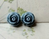 11 mm Grey Colour Rose Resin Flower Cabochons (.tc)