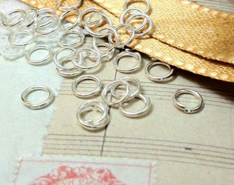 5 mm Silver Plated Jump Ring Findings (.sm)