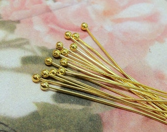 50 mm Golden Plated Ball pin Findings (.mg)
