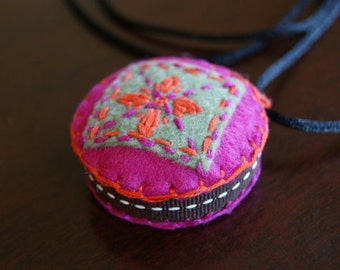 Pin Cushion Necklace