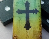 Domino Tile Pendant-Magnet-Key Chain-Wine Glass Charm-Renaissance Style Cross-(R23)  Buy 3 and Get 1 Free