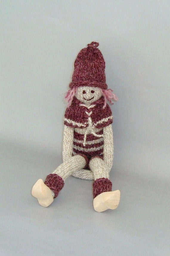 Cute Christmas Elf Doll-Stuffed Knitted Gnome Gift-Nordic Tomte Nisse ...