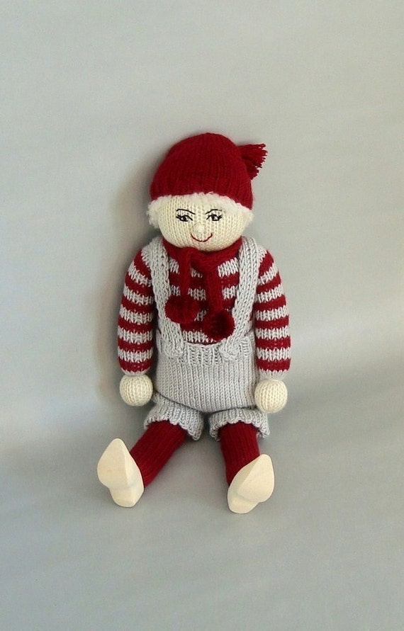 ... Christmas Decoration-Knitted Boy Doll-Santas Little Helper-Jul-On Sale
